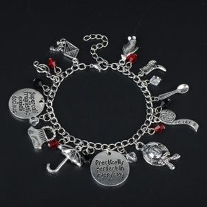 ⭐️2/$25 Disney's Mary Poppins  Charm Bracelet